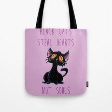 Black Cats Steal Hearts not Souls Tote Bag