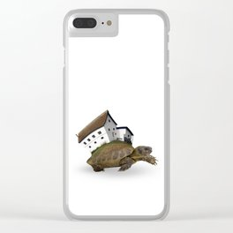 Turtle & House Clear iPhone Case