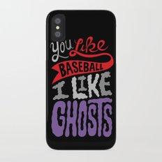 Baseball, Ghosts iPhone X Slim Case
