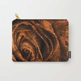 Burning Grunge Rose Carry-All Pouch