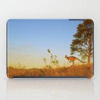 kangaroo iPad Cases featuring Kangaroo  by Pippa Selby