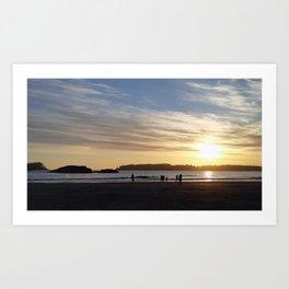tofino sunset Art Print