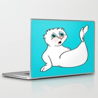 seal Laptop & iPad Skins featuring Surprised Seal by J&C Creations