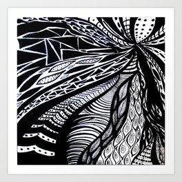 Gaia's Garden in Black & White 3 Art Print