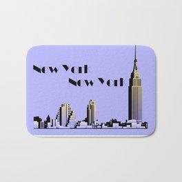 New York New York skyline retro 1930s style Bath Mat