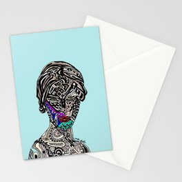Millenium Space Goddess Stationery Cards