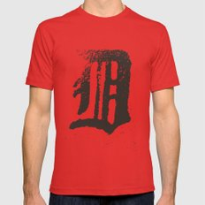 Detroit Red Mens Fitted Tee X-LARGE