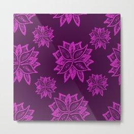 Purple Floral  Metal Print