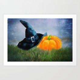 Lost Witche's Hat Art Print