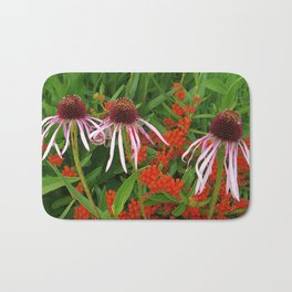 Coneflowers and Butterfly weed 7605 Bath Mat