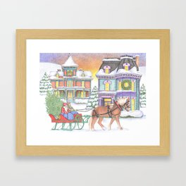 Old Fashioned Christmas Framed Art Print