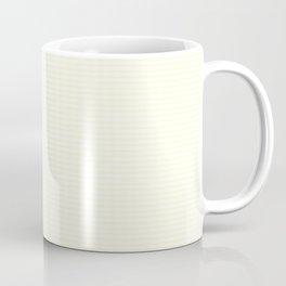 Small Horizontal Pastel Lemon Yellow Princess Elizabeth Regal Stripe Coffee Mug