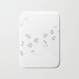 Cute Floral Cat Design Bath Mat