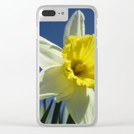 Daffodil Out of the Blue Clear iPhone Case