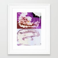 bleach Framed Art Prints featuring Pink Bleach by Bzerk Creative