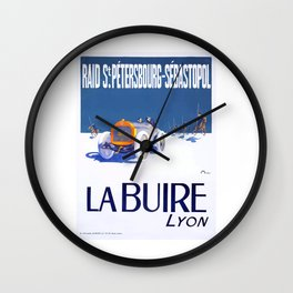 1911 La Buire French Automobile Advertising Poster Wall Clock