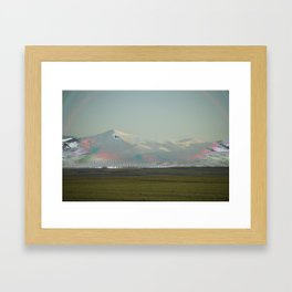 mountain vhs Framed Art Print