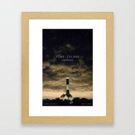 Fire Island Lighthouse - Long Island - New York. Framed Art Print