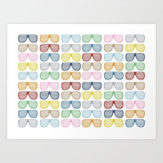 Rainbow Shutter Shades Art Print