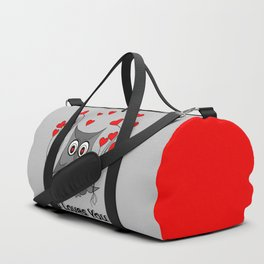 Valentines Day Owl - Happy Valentines Day Duffle Bag