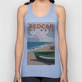 Redcar by rail - British railway travel poster Unisex Tank Top