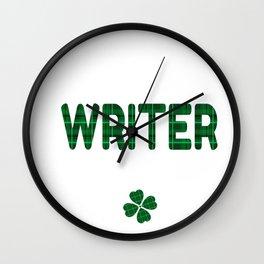 Luckiest Writer Ever St. Patricks Day Lucky Irish Wall Clock