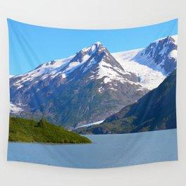 Portage Glacier - Summer Wall Tapestry