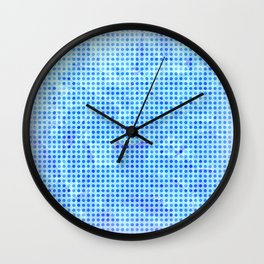 Pale Blue Dots Wall Clock