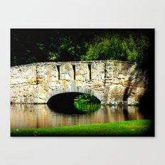 Bridge over Pond Canvas Print