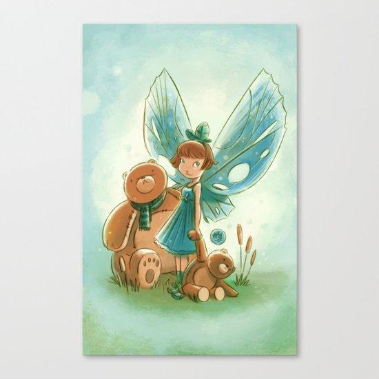 Goblins Drool, Fairies Rule! - Baby Blue Canvas Print