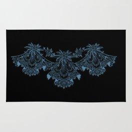 Vintage Lace Hankies Black and Niagara Rug