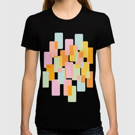 Pastel Geometric Shape Collage T-shirt