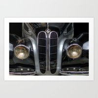 bmw Art Prints featuring Old BMW by Cozmic Photos