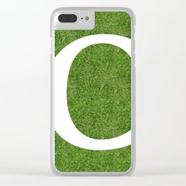 C initial letter alphabet on the grass Clear iPhone Case