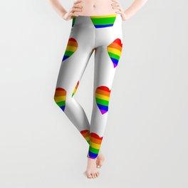 LGBT Rainbow Colors Heart Leggings