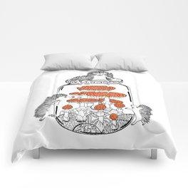 Hedgehog Amanita Mushroom Comforters