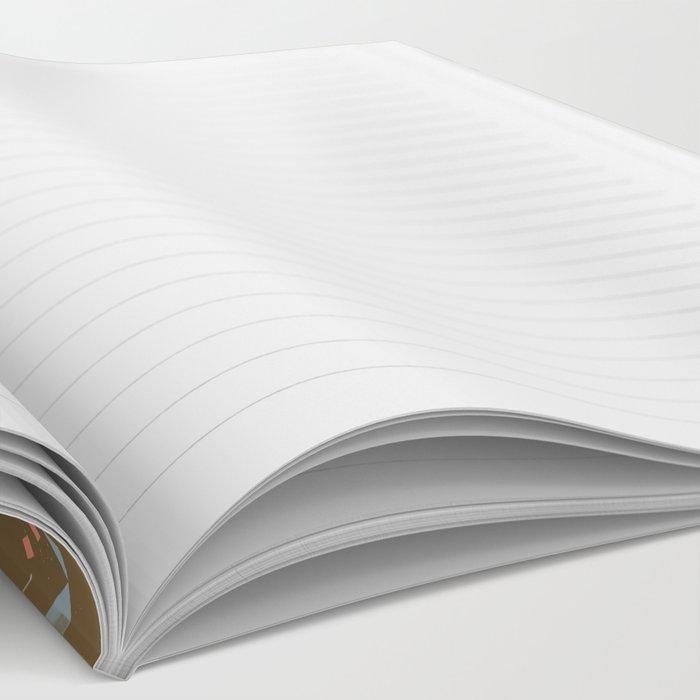Tangram Bunnies M+M Nutmeg by Friztin Notebook