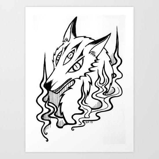 Demon Fox Art Print