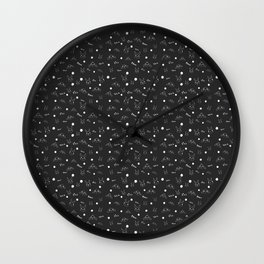 bunny and flower scatter Wall Clock