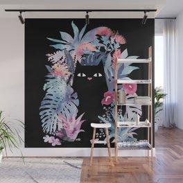 Popoki (Pastel Black Velvet) Wall Mural