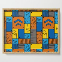 Pattern: abstract forest Serving Tray