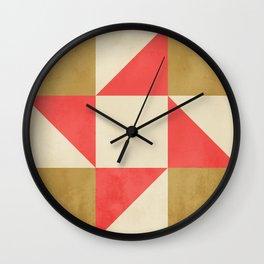 Quilt Block #01 Wall Clock
