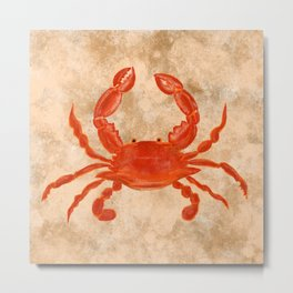 Crabs for Dinner Metal Print