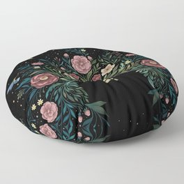 Tiny House - Blooming Floor Pillow