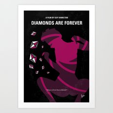 No277-007 My Diamonds Are Forever minimal movie poster Art Print