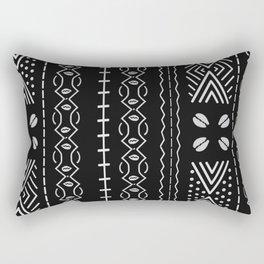 Black mudcloth with shells Rectangular Pillow