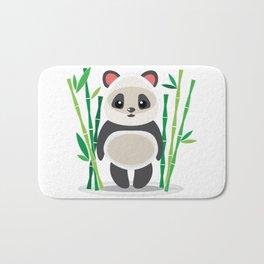 Cute panda in bamboo bushes cartoon Bath Mat