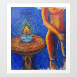 In the Light of Candle Art Print