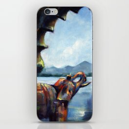 The Elephant's View iPhone Skin