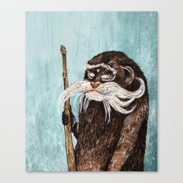 Emperor Tamarin Monkey Canvas Print